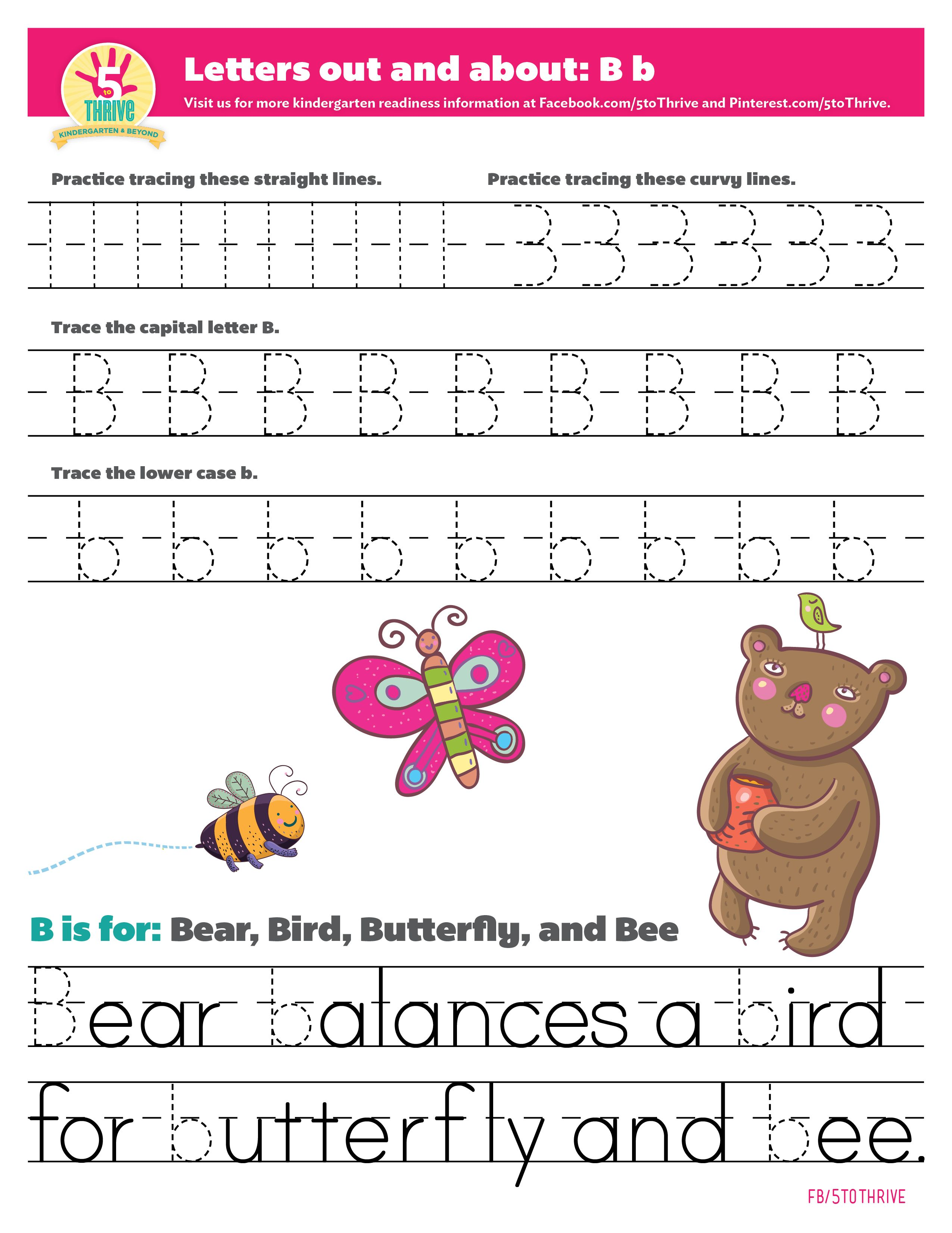 Letters Out And About B Is For Bear Bird Butterfly And