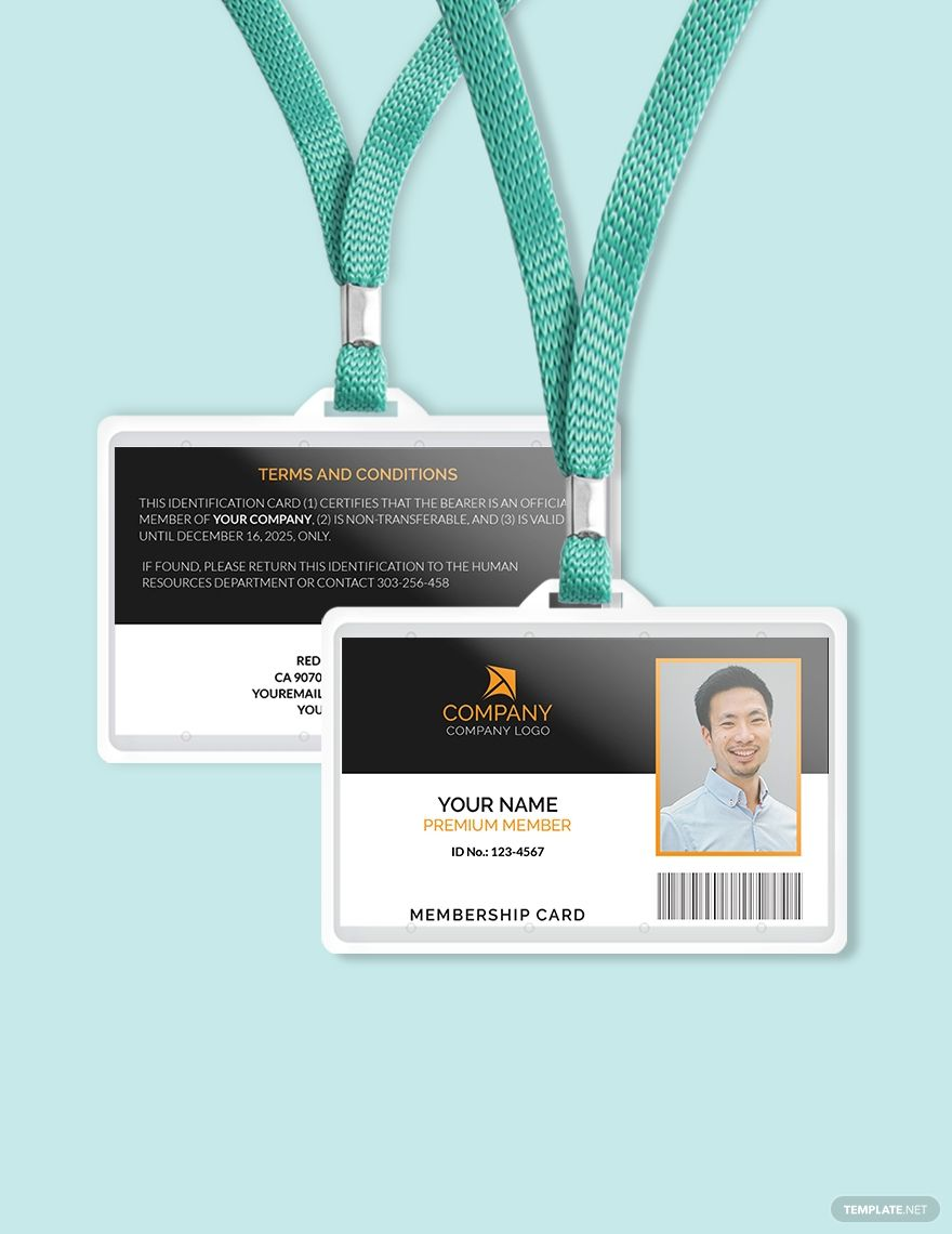 Sample Membership Id Card Template Free Pdf Word Psd Apple Pages Illustrator Publisher Id Card Template Card Template Membership Card