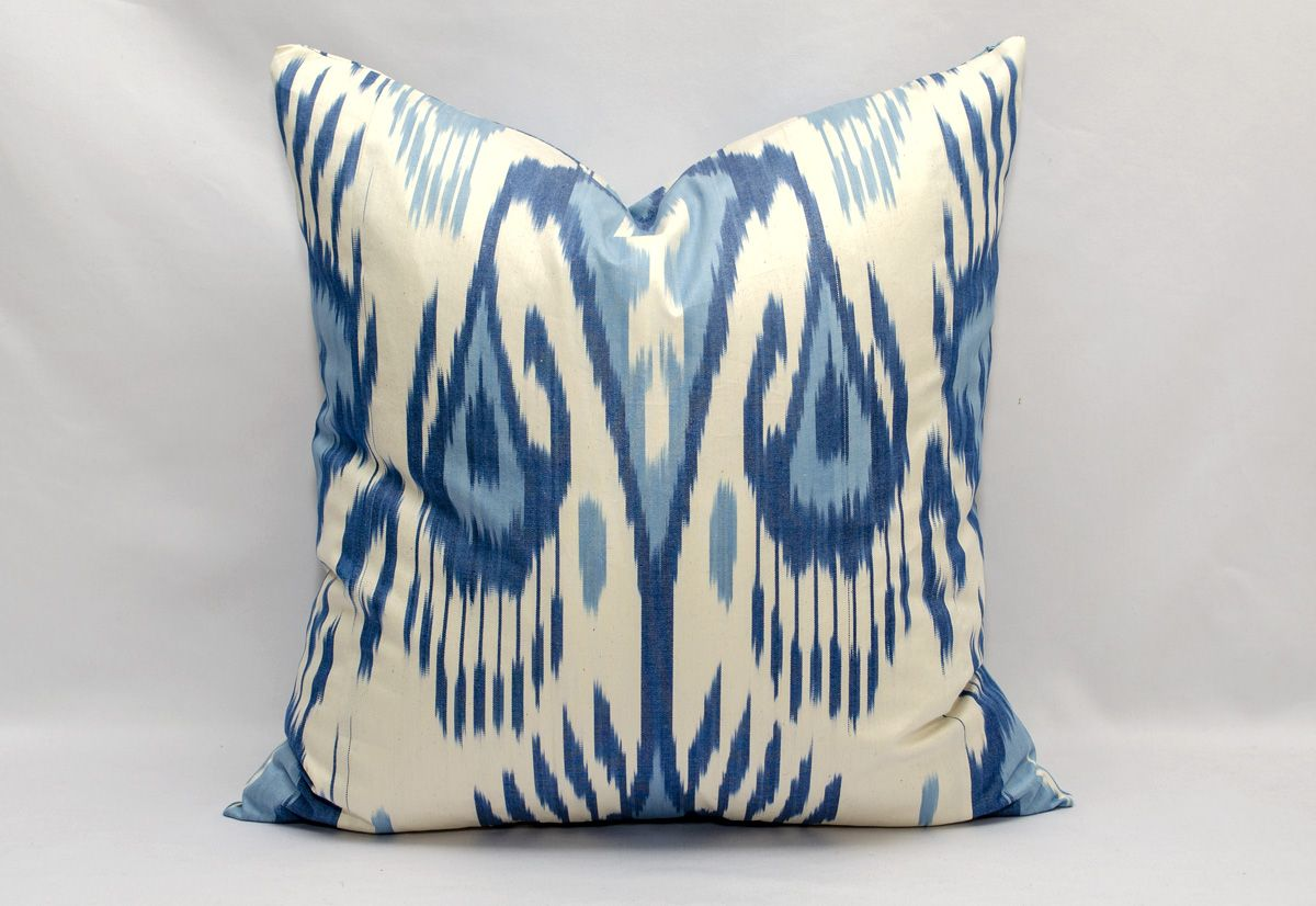 ikat decor Soft Ikat Fabric Ikat Interior Ikat for upholstery Hand-dyed Garnet Cotton Ikat textile Uzbek Ikat Fabric Blue Fabric