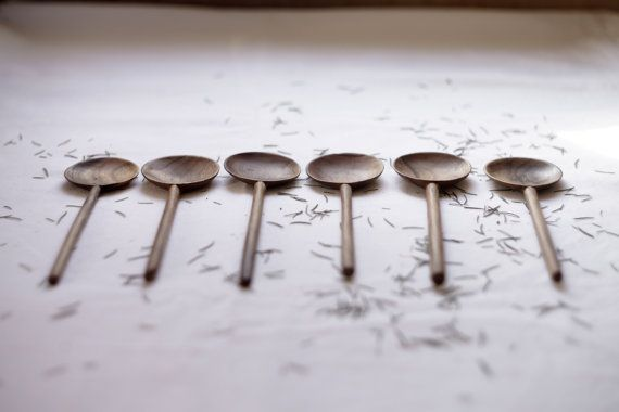 round walnut spoon for eating hand-carved wooden by belayahvoya