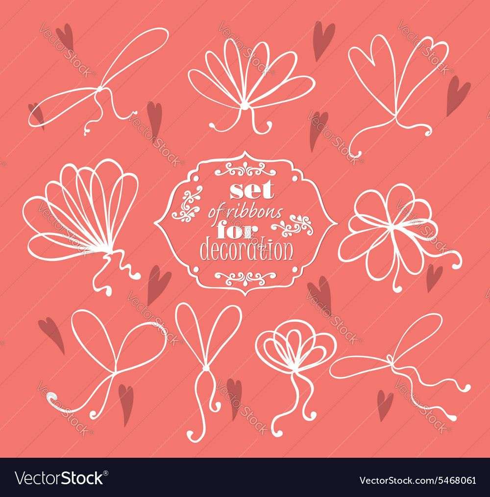 Ribbons for decoration Royalty Free Vector Image ,