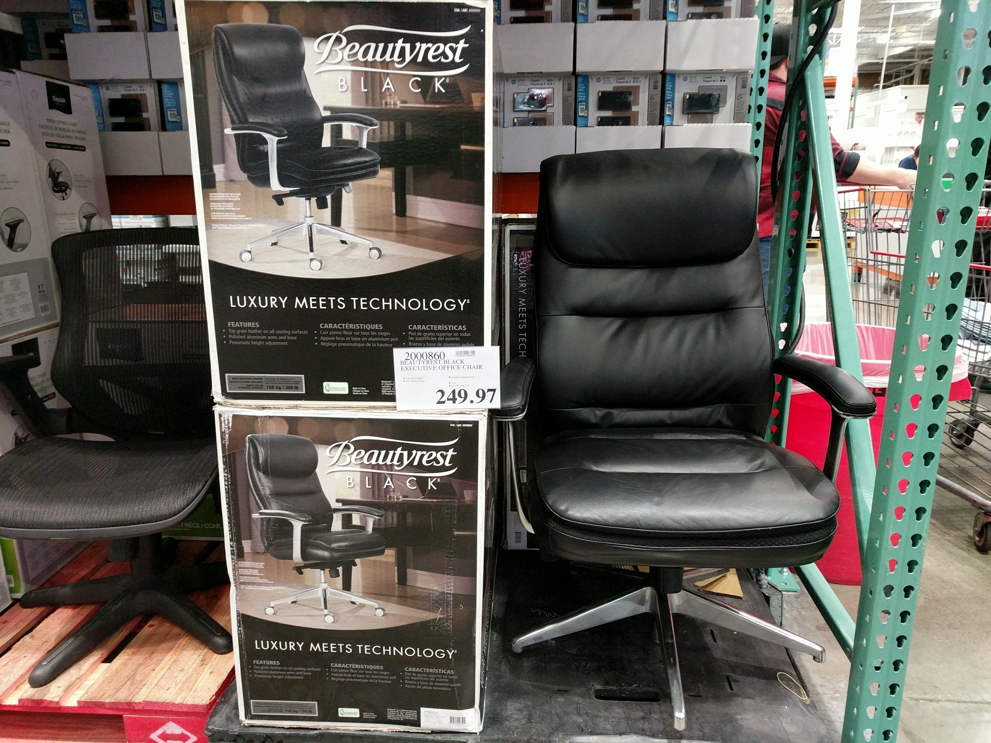 BeautyRest Black Executive Office Chair - $249 97 #costco