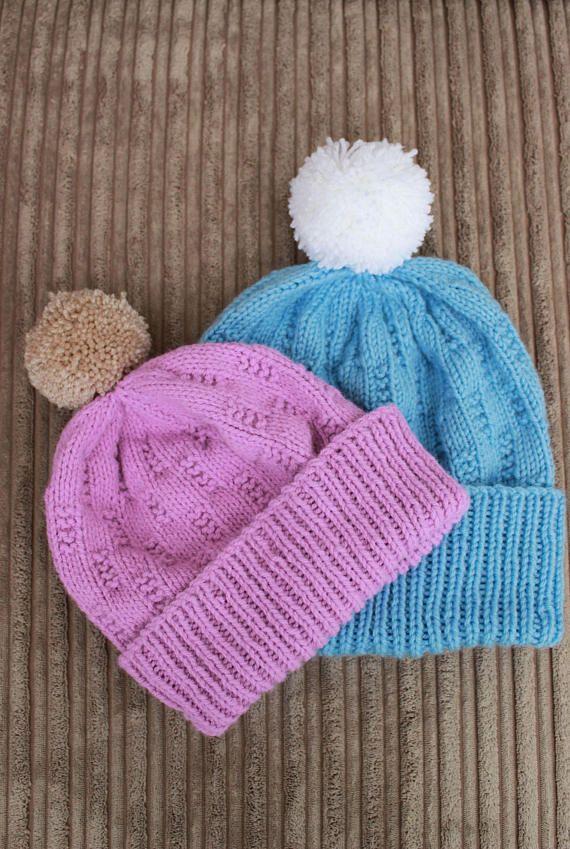 knitting pattern //mens hat knitting pattern // ladies hat ...
