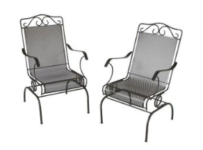 Napa 2 Piece Wrought Iron Patio Chair