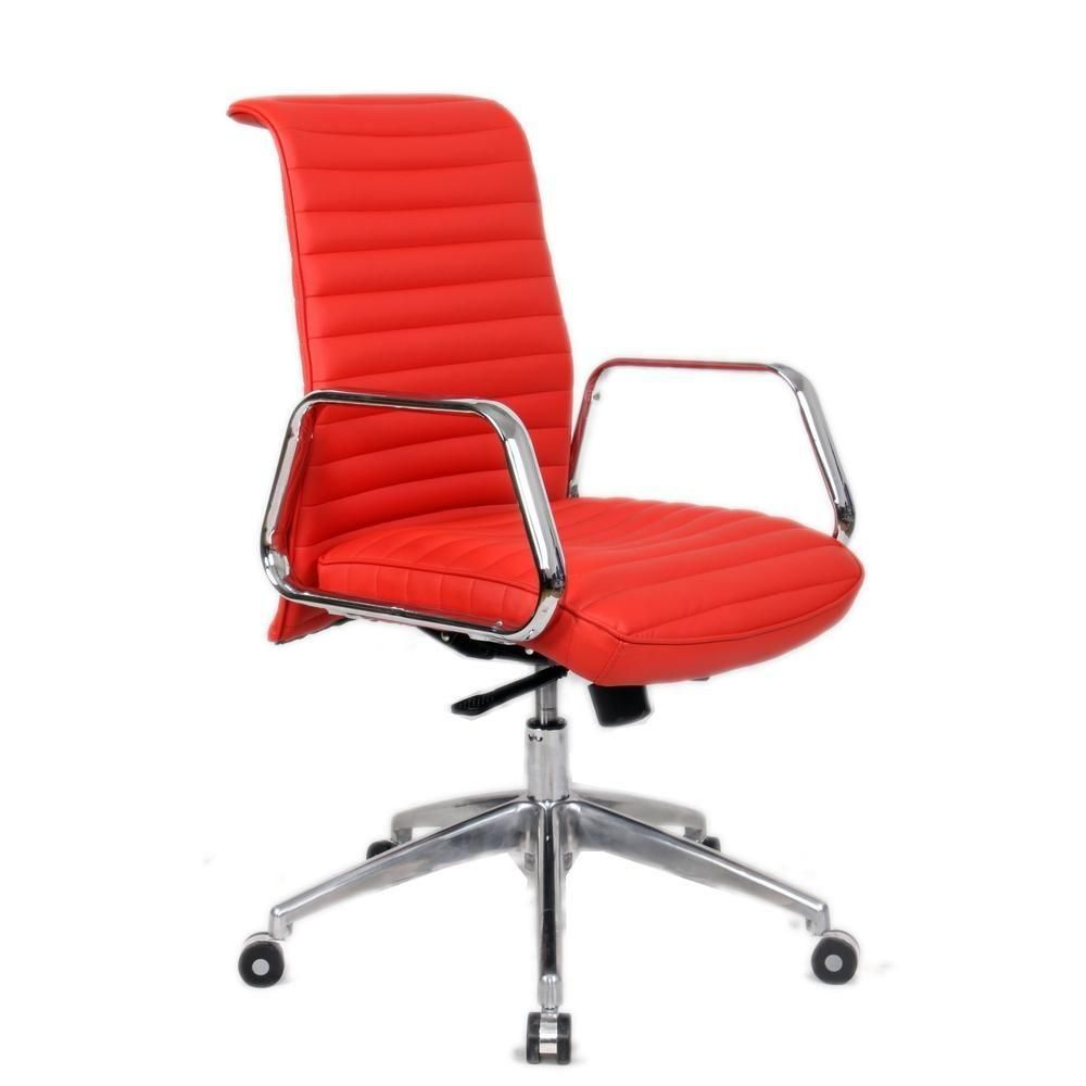 Ox Office Chair Mid Back, Red