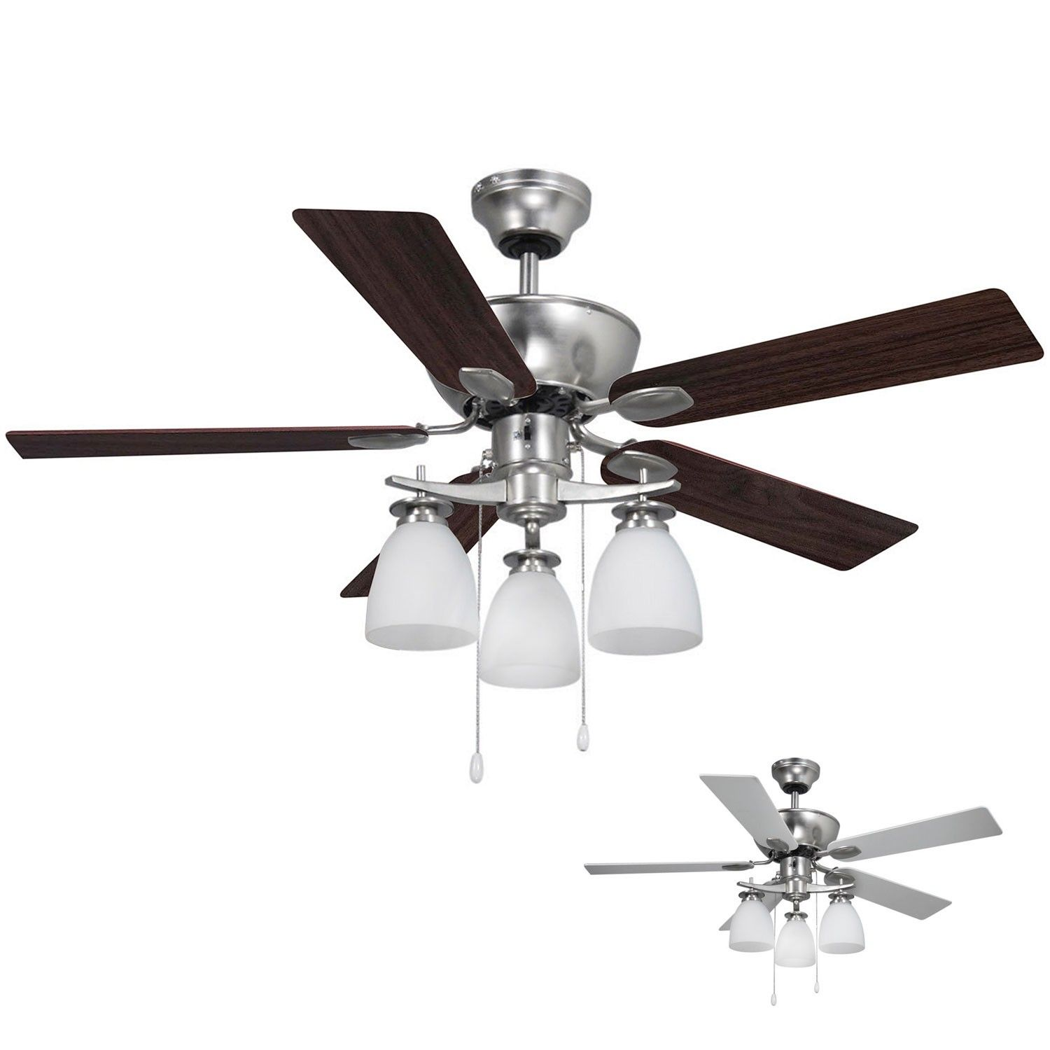 Farmhouse Rustic Reversible Ceiling Fan With Lights 3 Blade Wire Drum Semi Flush Mount Ceiling Fan With Remote In 2020 Ceiling Fan With Light Ceiling Fan With Remote Flush Mount Ceiling Fan