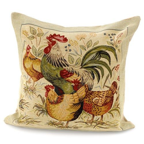 Rooster And Hen Pillows Small Pillows Home Decor Accessories Extraordinary Roosters Decorative Accessories