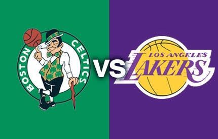Image result for Boston Celtics vs Los Angeles Lakers