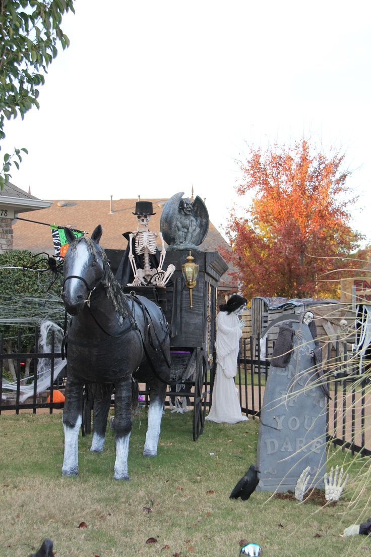 Halloween yard decor….Brown asylum Halloween yard