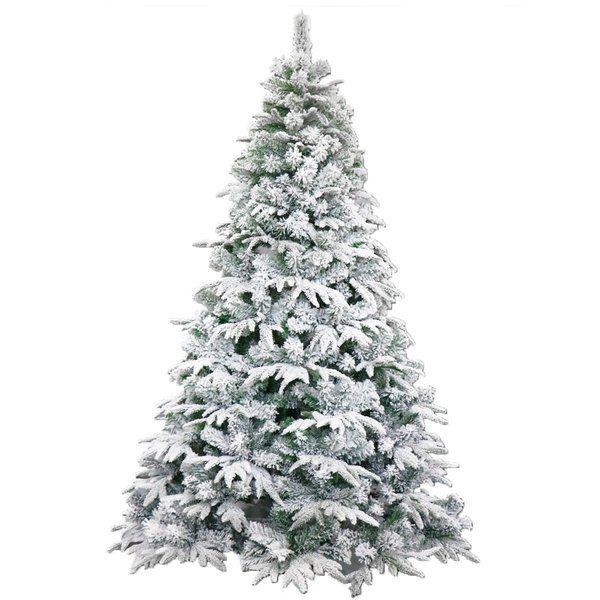 Deluxe Indoor Green/White Pine Artificial Christmas Tree ...