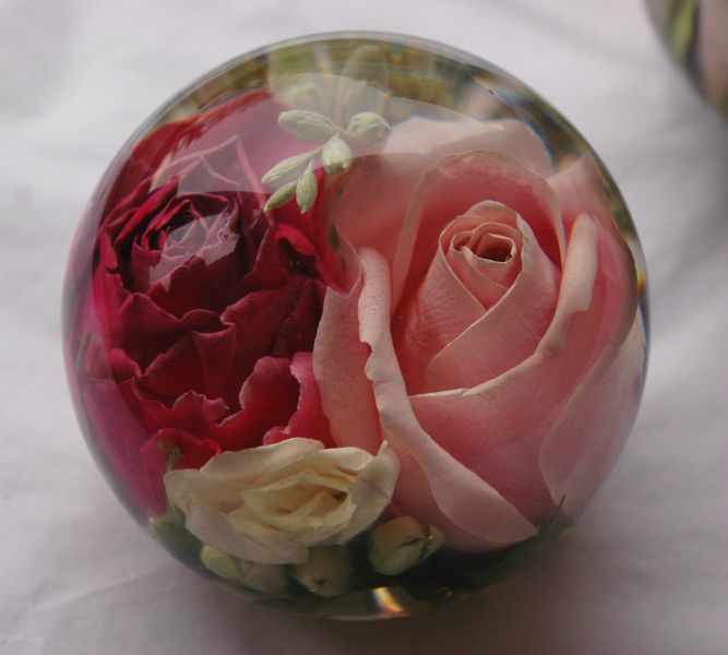 Wedding Flowers In Resin: Wedding Flower Paperweight