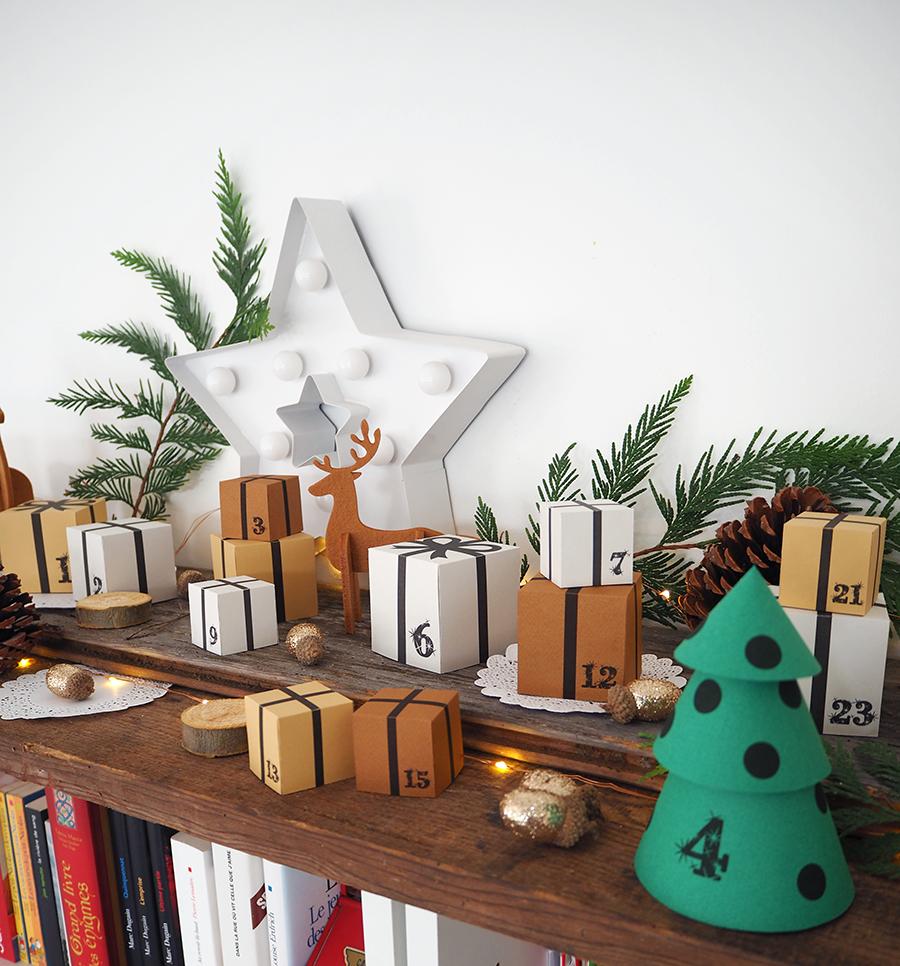 La forêt de mini-cadeaux (calendrier de l'avent DIY)