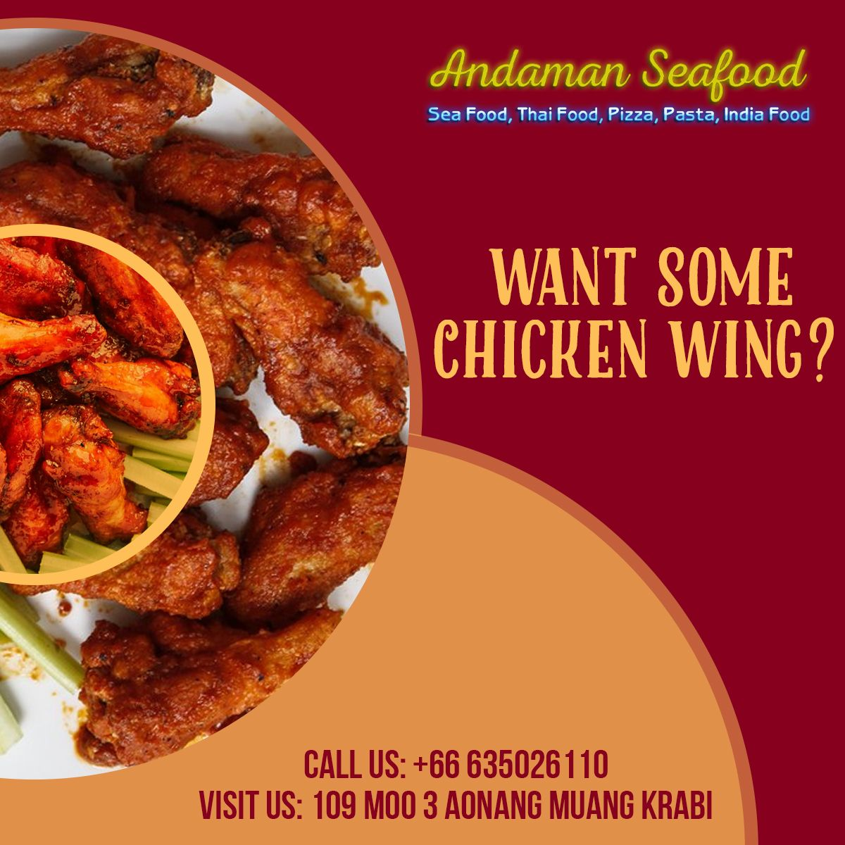 Want Some Chickenwing Don T Look Glum Come To Andamanseafood