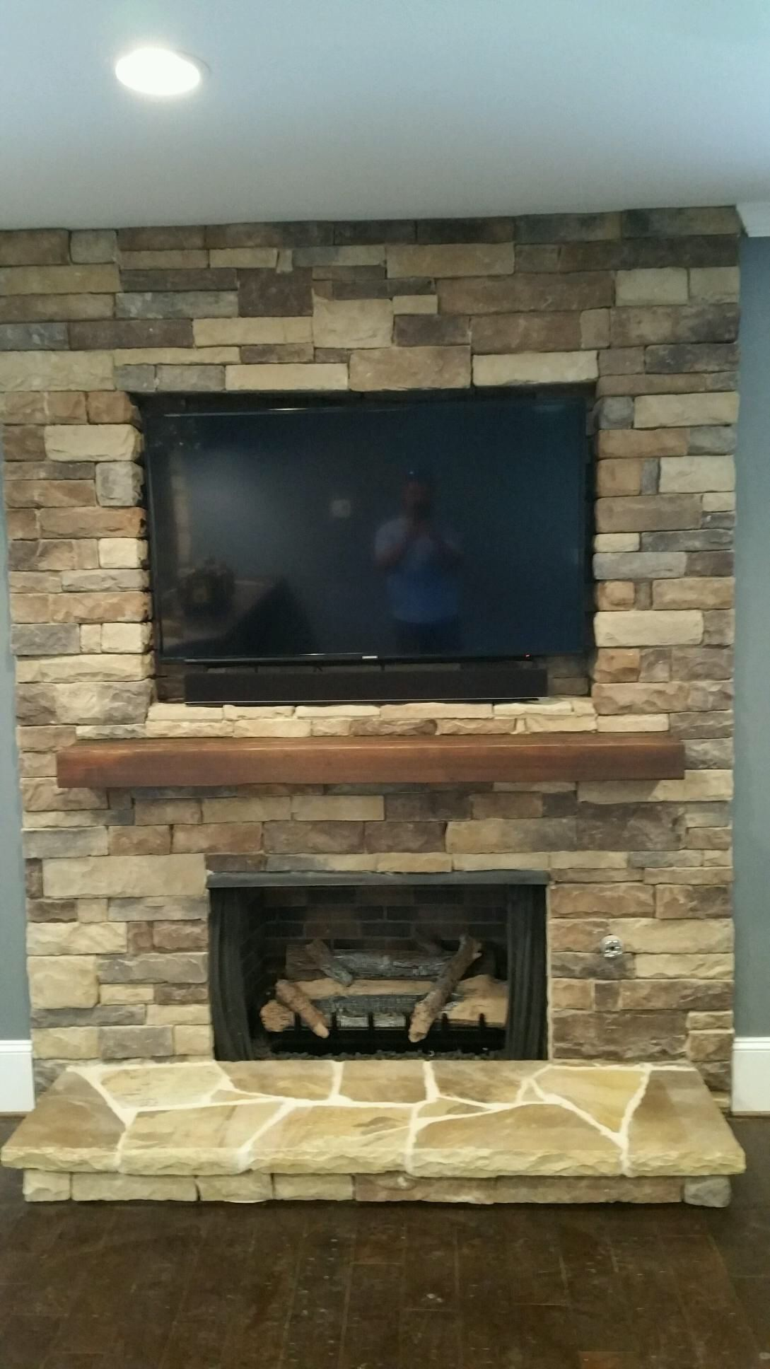 #17 Cedar Creek Stack Fireplace By Native Custom Stone