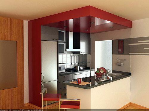 imagenes de cocinas pequeas2 - Decoracion De Cocinas Pequeas