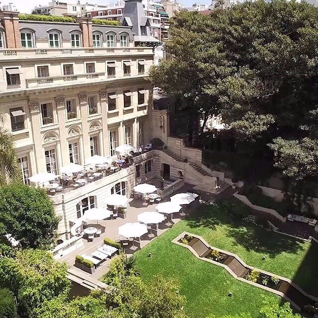 The terraced backyard of @palacioduhau. Built as a family home in 1934 the palace now houses Park Hyatt Buenos Aires and its guests. Photo by @federicoalvarezcastillo. by parkhyatt