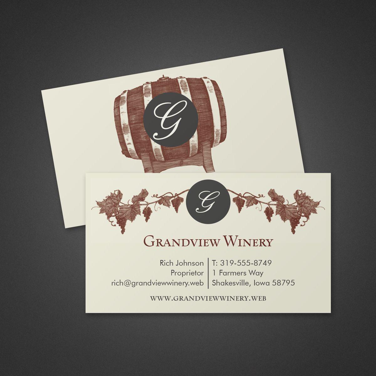 Custom Card Template vista print business cards : Vintner Business Card : Vistaprint : Business Card Ideas ...