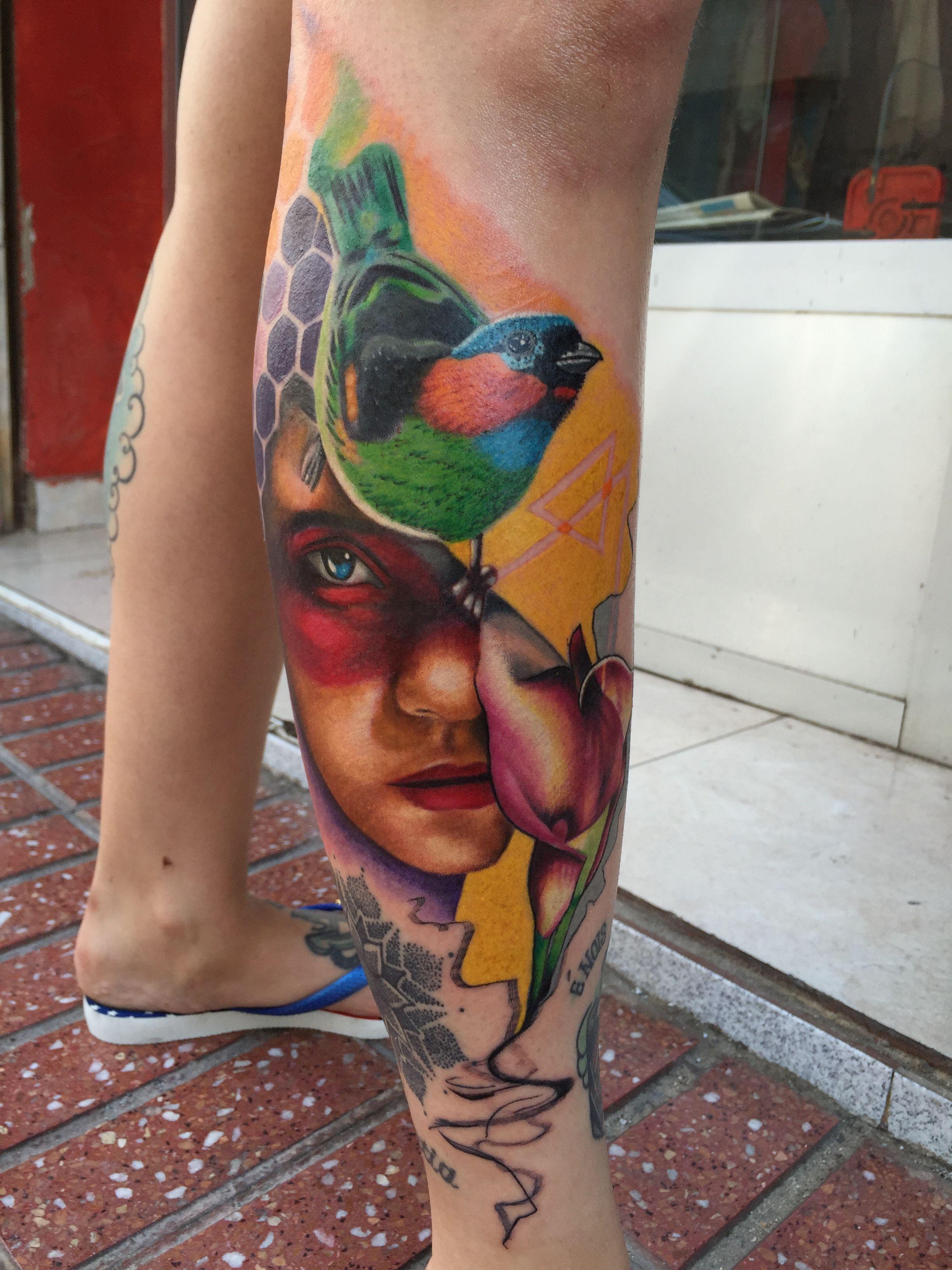 Cool tattoos for a girl tatuagem koala tatuaje tattoo girl inked ink bird  tattoos