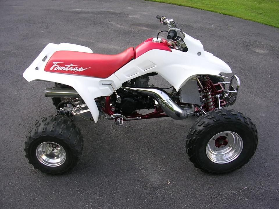 Honda Fourtrax 250R , Fast 2 Stroke Quad! Photo Courtesy Of Vintage Factory  ATC Racer