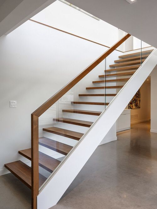 Stair Design Details   Glass With Wood Railing   Interior Design Details    Dunrobin Shores / Christopher Simmonds Architect