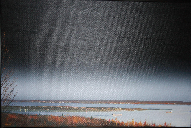 Depuis l'automne, vivre dans un monde debout, Huile 16 X24,  Guy Paquet (2014) (59)