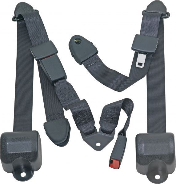 Seatbelt Solutions Rear Push Button 3 Point Retractable Belts For