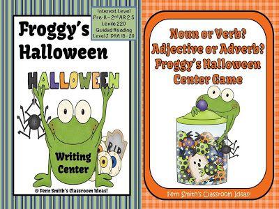 Froggy's Halloween Centers for Elementary Teacher Classroom Writing Centers #Writing www.FernSmithsClassroomIdeas.com