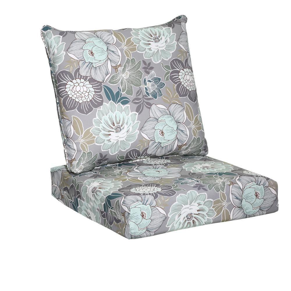 Hampton Bay Charleston Floral 2 Piece Deep Seating Outdoor Lounge