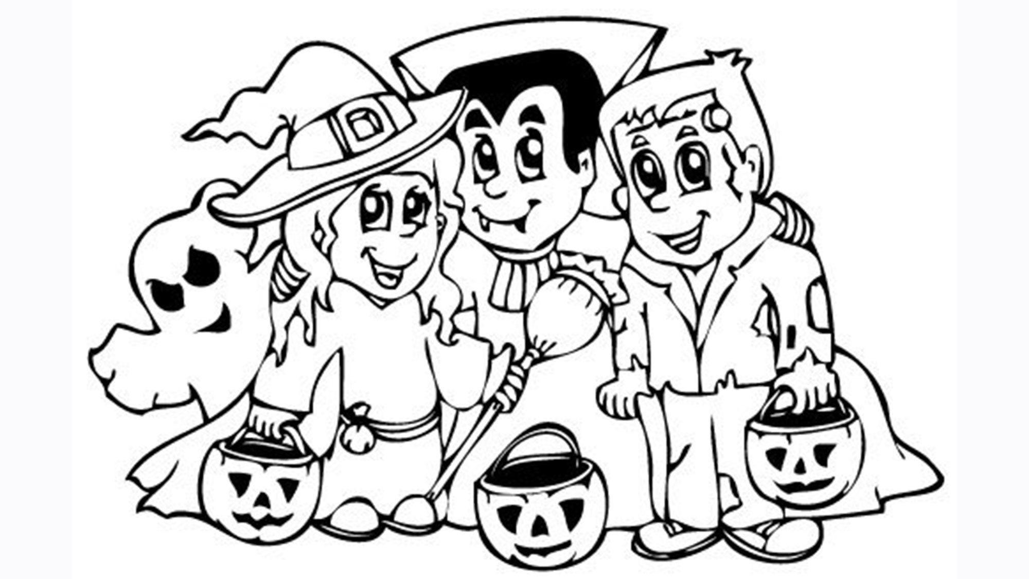 Des coloriages d'Halloween à imprimer Coloriage