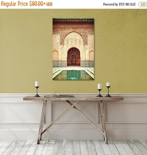 Morocco Canvas Art, Travel Decor, Large Canvas Print, Ethnic Photo ...