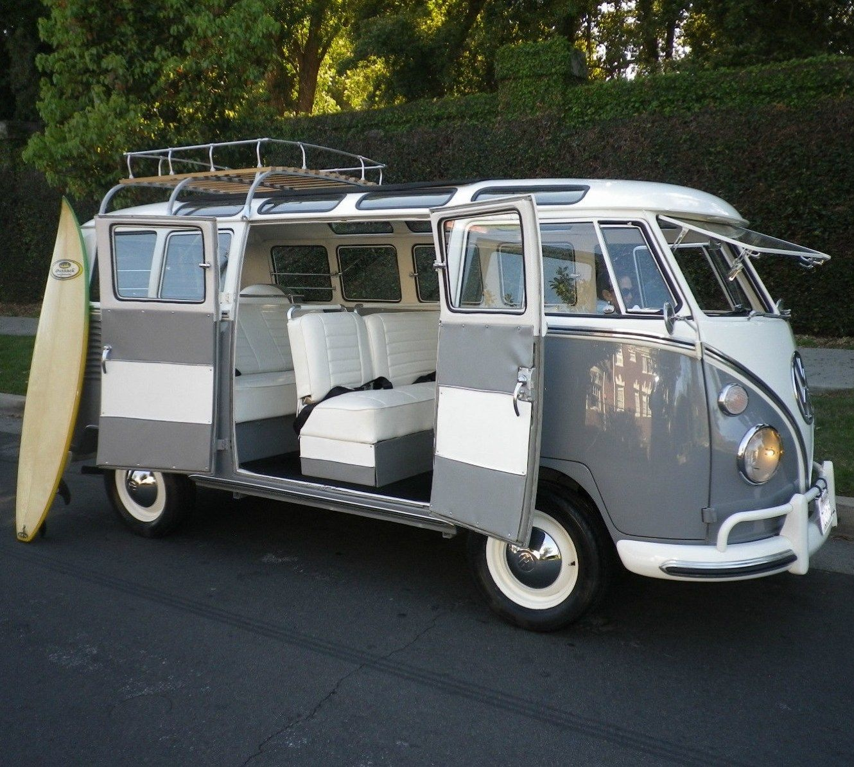 1965 volkswagen bus samba 21 window rag top vw vanagon deluxe trim surfer van