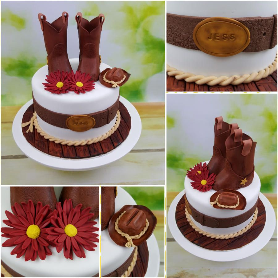 Cowgirl Cake - Cake by BeccaliciousCakes