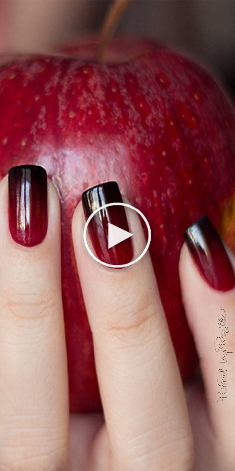 2019 List For 365 Days Of Nail Art Nail Ideas Pink To Red To Black Gradient Nail Designs Pinterest