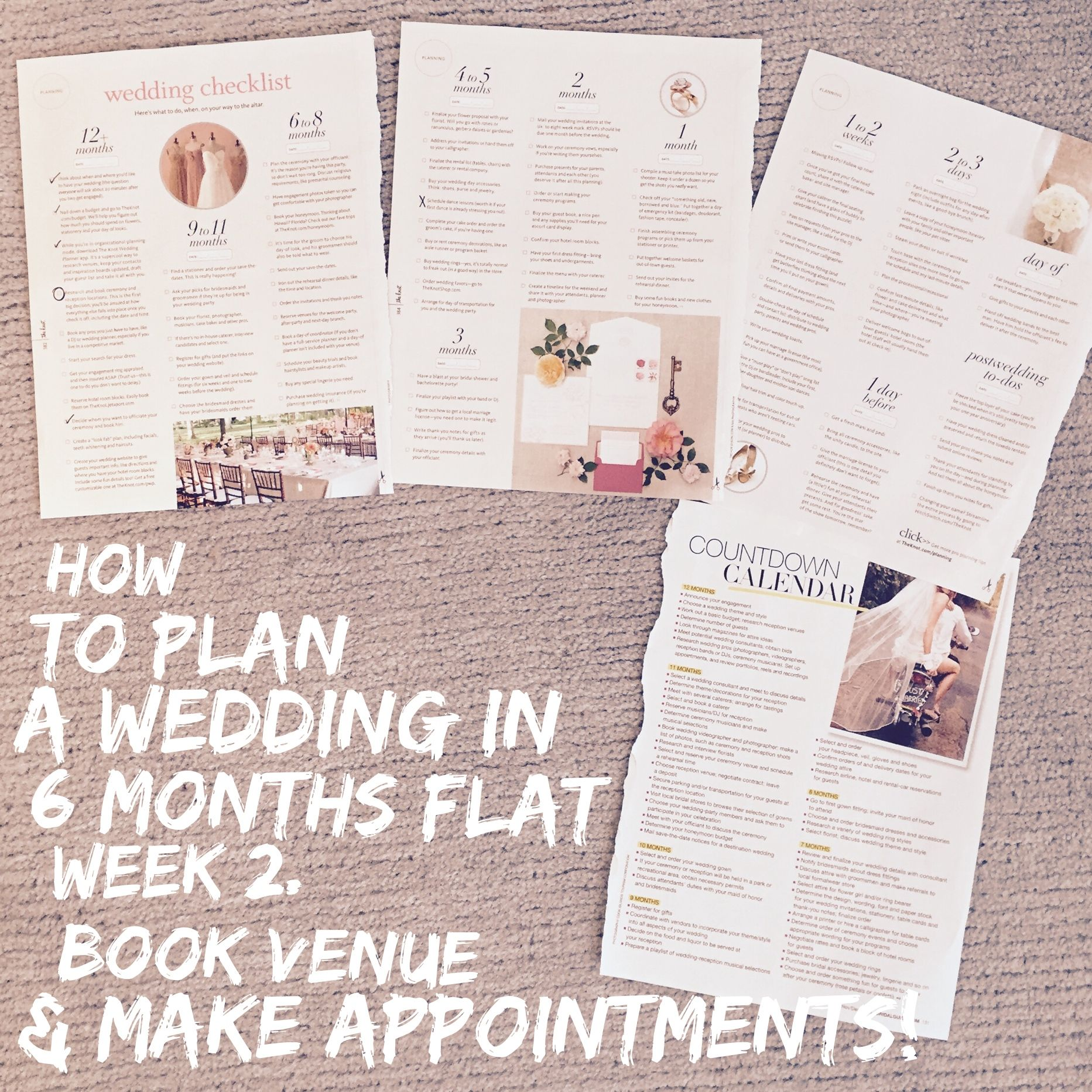 How to plan a wedding in  months flat week   Traditional wedding
