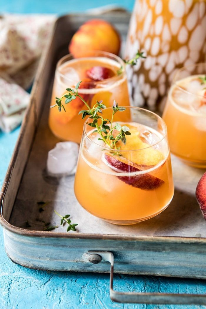 Bourbon Peach Lemonade |