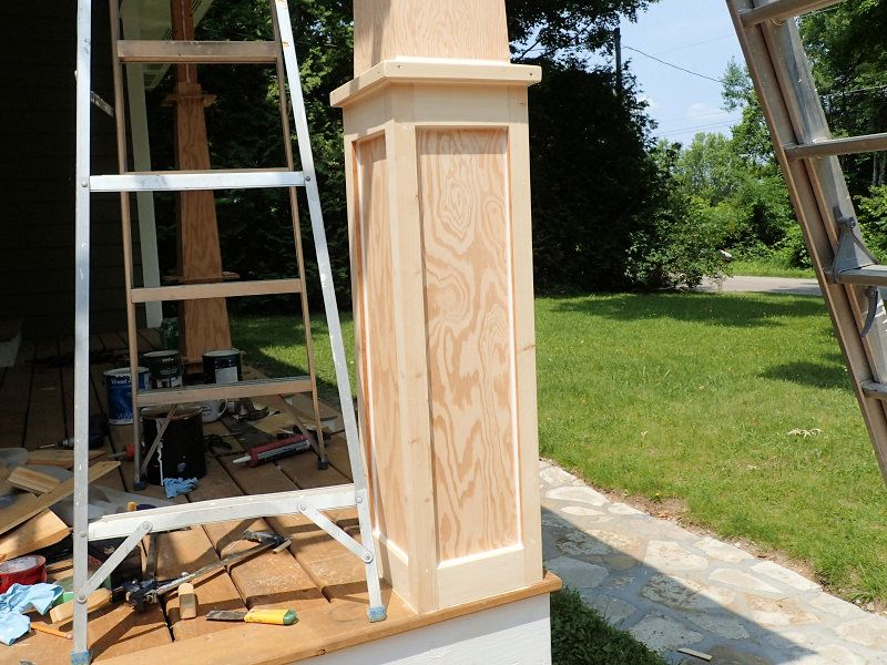 How to make craftsman style tapered columns columns for Craftsman columns