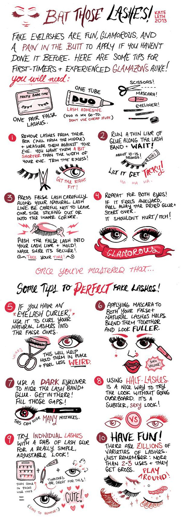 18 Hacks, Tips and Tricks On How To Apply False Eyelashes Perfectly - Gurl.com