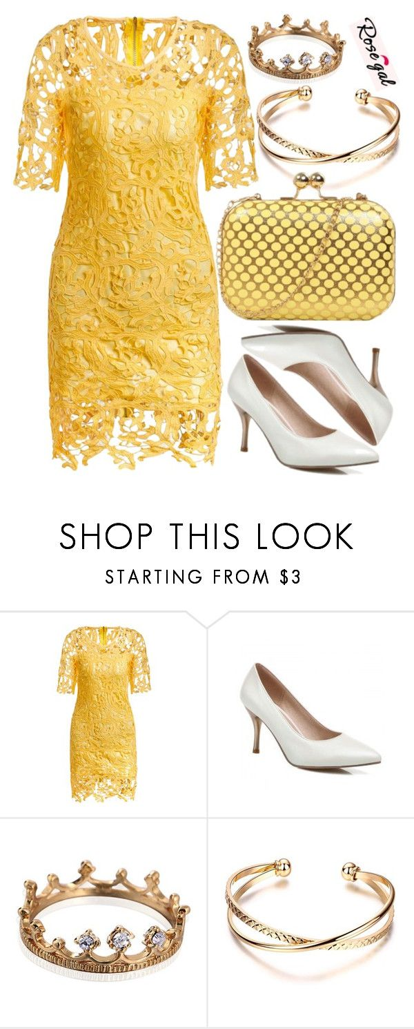 """Rosegal"" by deedee-pekarik ❤ liked on Polyvore featuring yellow and rosegal"