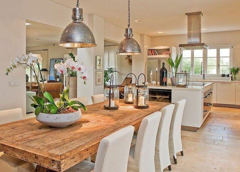 80 Heavenly Modern Farmhouse Dining Room Decor Ideas #farmhousediningroom