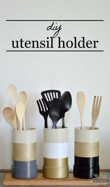 Diy Utensil Holder Diy Diy Kitchen Kitchen Utensil Holder