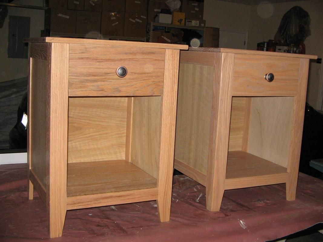Craftsman Style Nightstands. Built With Red Oak