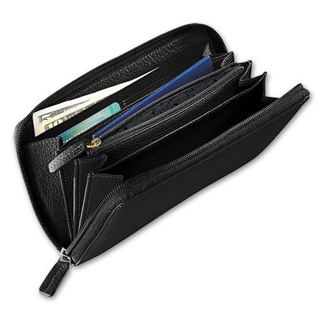 Classic All-Leather Zip Wallet