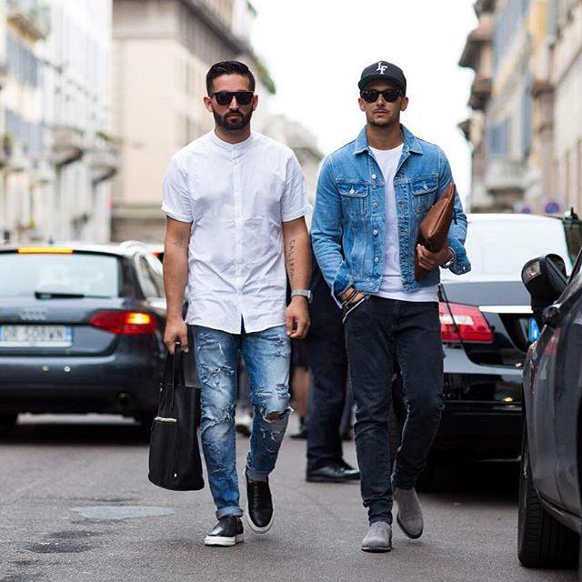 @eff.ulloa & @sandro on the first day of Milan Fashion Week. View the full collection on the blog: MensFashionPost.com Photo by: @mrcavcou #MFW #milanfashionweek #streetstyle #mmfw #milan