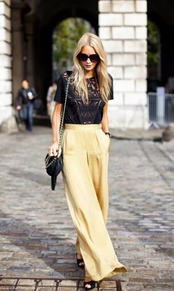 Look Happy Hour: Pantalona Amarela