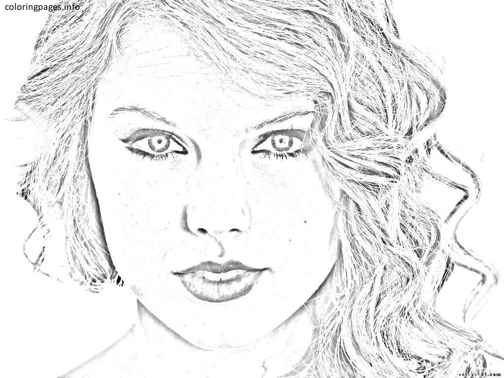 celebrity coloring pages taylor swift #celebrity coloring ...