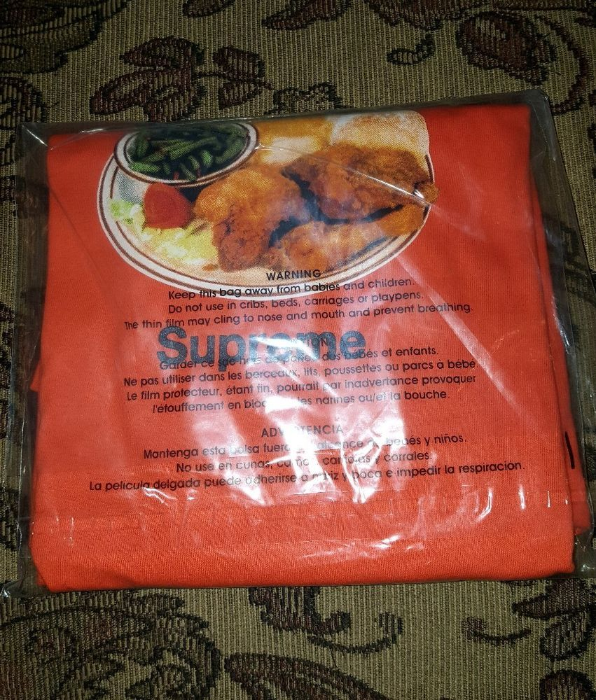 bf65effb9eed Supreme Chicken Dinner tee in Orange XL S/S 18 In Hand #Supreme #GraphicTee