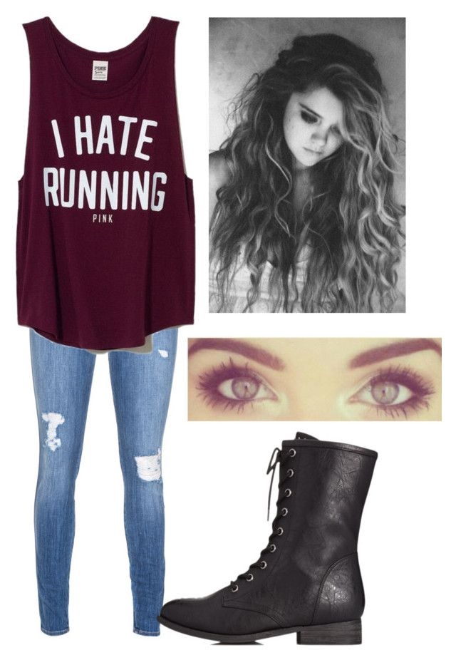 """""""Untitled #1056"""" by outfits-onedirection ❤ liked on Polyvore featuring Genetic Denim, Victoria's Secret PINK, Forever 21, women's clothing, women, female, woman, misses and juniors"""