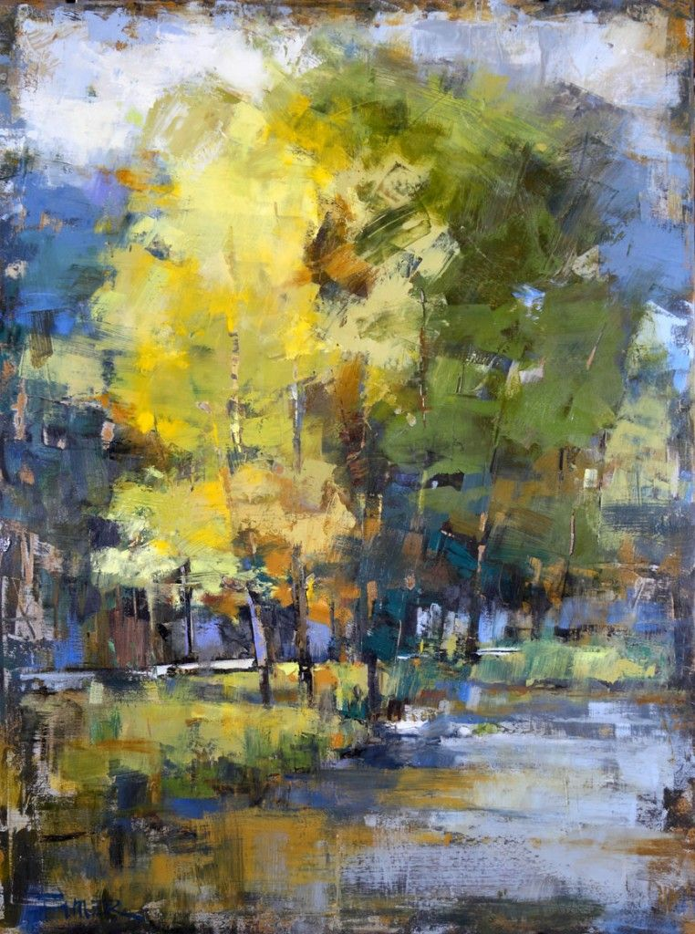 Curt Butler oil and encaustic