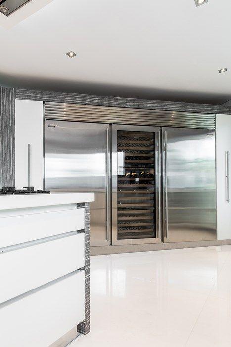 Subzero Trio Fridge Freezer Wine Cooler From Herrington Gate Luxury Kitchens Home Home Technology
