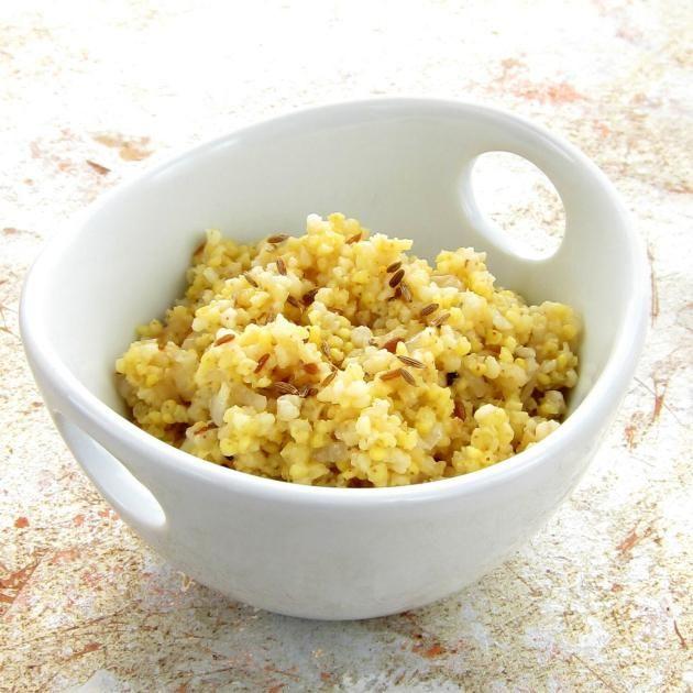 Cumin Spiced Millet Pilaf - Pressure Cooker